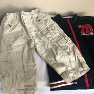 Boys 2 piece outfit pants & sweater size 12-18M